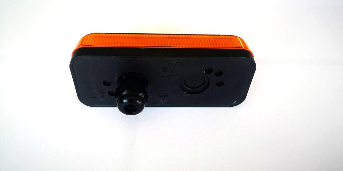 Feu de position SM1 orange à ampoule avec presse-étoupe